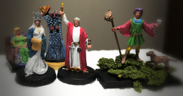 Tarot Figures Painted