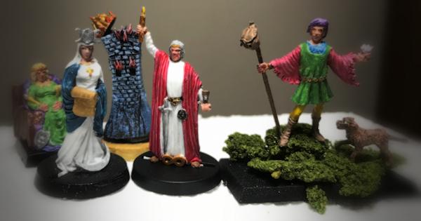 Tarot Figures Painted